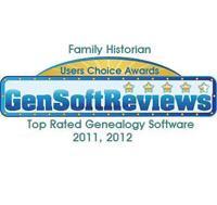 Top Rated Genealogy Software Award