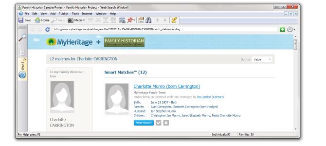 New Web Search Window