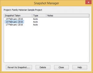 snapshot manager